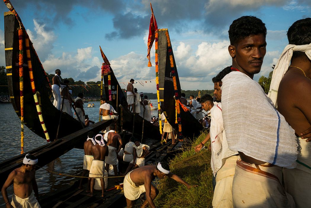INDIA. Aranmula. 2014. Boat race.