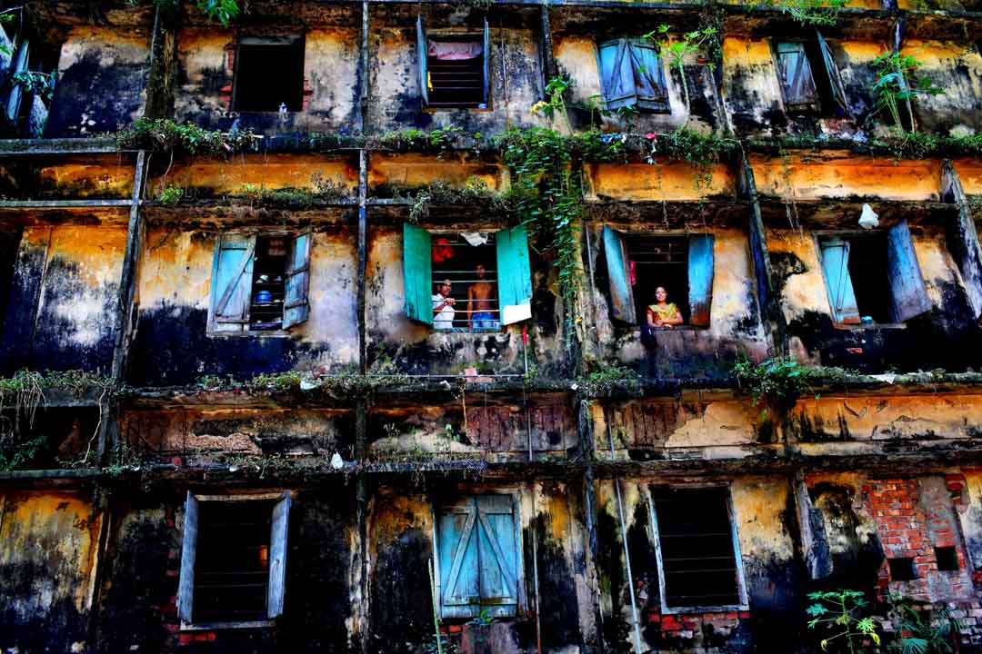 This century old building in outskirts of Dhaka does not harbour ghosts of the past – it shelters living and hopeful souls, braving life in the present. It's a home to 80 families of sweepers - one of the most neglected and downtroadden communities despite rendering an important service and deserved to be noticed and respected.Bangladesh