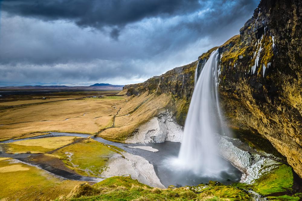 Waterfall Seljalandsfoss, Iceland