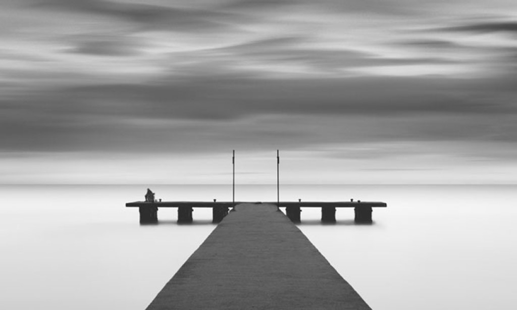 Michael levin minimalist black white landscapes