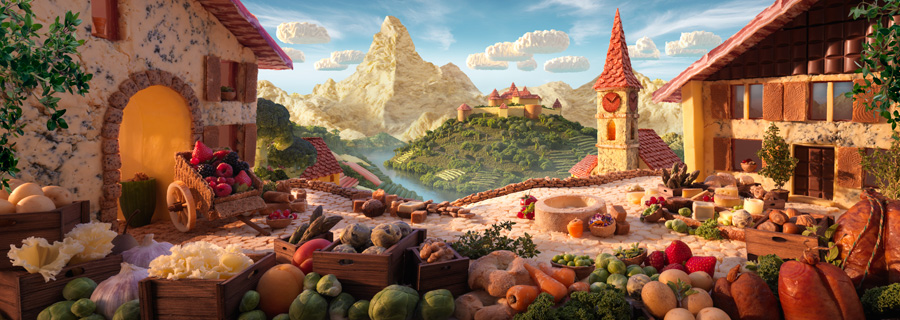Foodscapes © Carl Warner