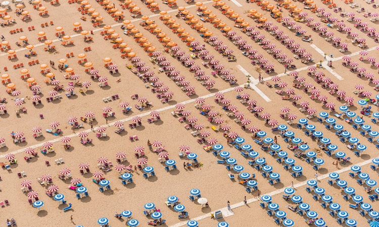 Bernhard Lang: Densely Populated Beaches From Above
