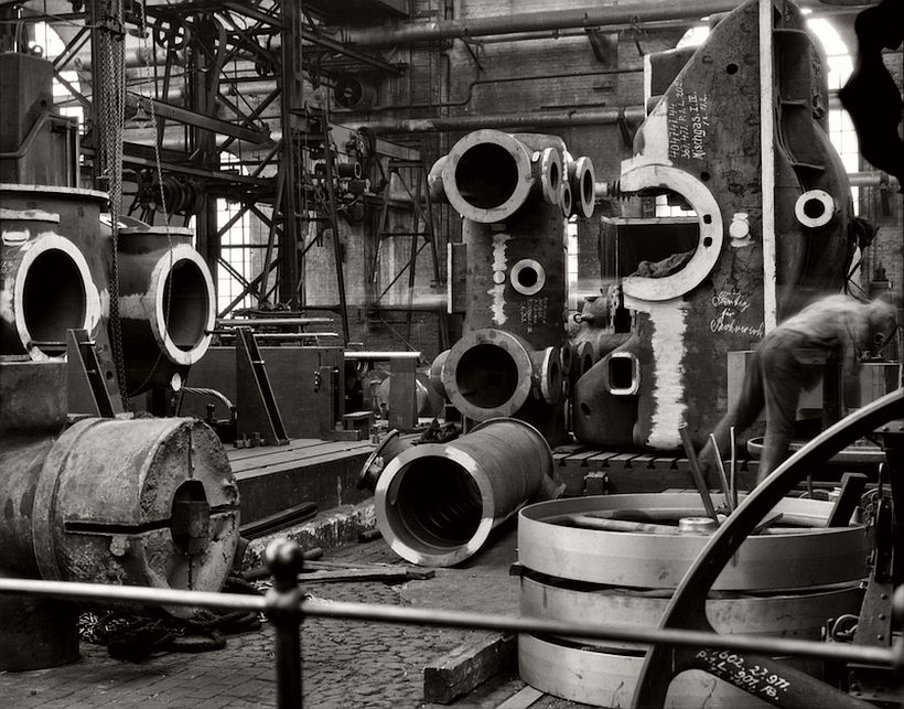 Factory floor, Borsig Locomotive Works, Berlin, 1928