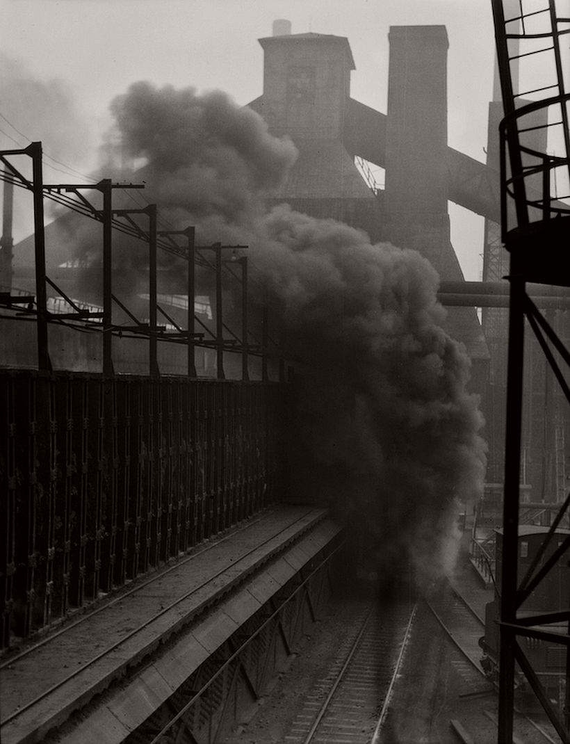Rail car carrying extinguished coke, Hösch Steelworks, Dortmund, 1928