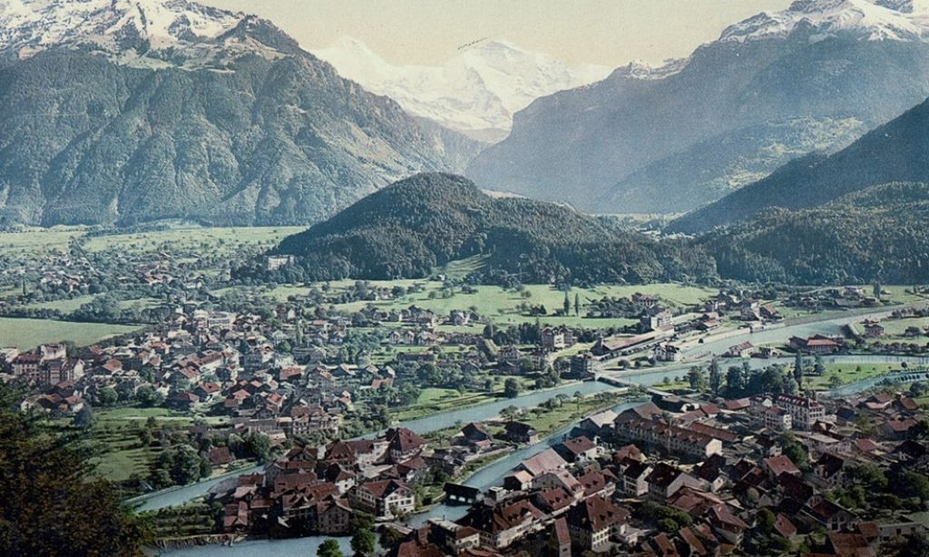Photochroms of Switzerland from 1890s